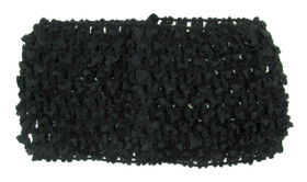 Medium Black Crochet Headband