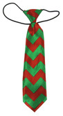 Christmas Chevron Boy Neck Tie