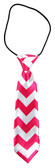 Hot Pink Chevron Boy's Neck Tie