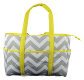 Gray & Yellow Chevron Diaper Bag