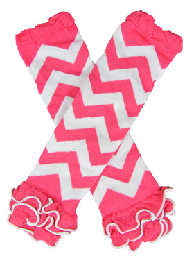 Hot Pink Chevron Leg Warmers