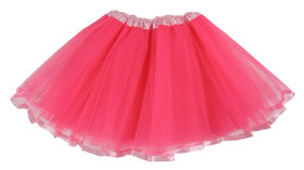 Neon Hot Pink Light Pink Ribbon Lined Dance Tutu