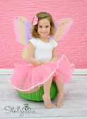 Ribbon Lined Dance Tutu Neon Pink with Light Pink Lining