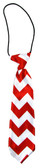 Red Chevron Boy's Neck Tie