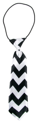 Black Chevron Boy's Neck Tie