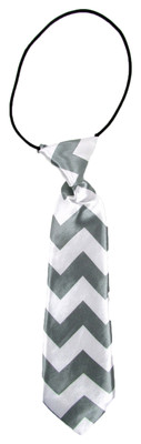 Gray Chevron Boy's Neck Tie