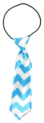 Blue Chevron Boy's Neck Tie