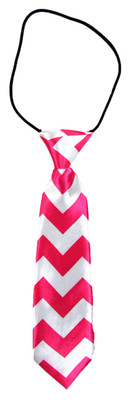 Hot Pink Chevron Boy's Tie