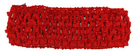 "Red 1.5"" 1 1/2"" Inch Crochet Headbands"