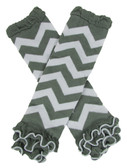Gray Chevron Leg Warmers