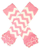Light Pink Chevron Leg Warmers