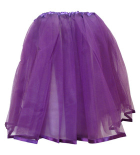 Purple Older Girls and Adult Ribbon Lined Tutu