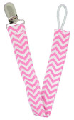 Light Pink Chevron Pacifier Clip