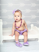 Purple Chunky Princess Necklace with Rosettes