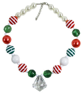 Christmas Chunky Necklace with Diamond