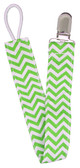 Green Chevron Pacifier Clip