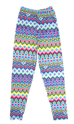 Blue with Hearts Leggings