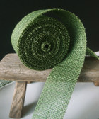 "2"" Green Burlap Jute Ribbon"