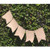 Natural Burlap Swallow Tail Pennant Banners