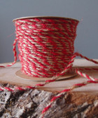Red & Natural Jute Cord