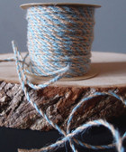 Light Blue & Natural Jute Cord