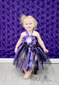 Peony Glitter Baby Tutu Dress Black Purple