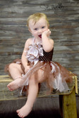 Peony Glitter Baby Tutu Dress Brown Light Pink