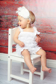 Cute White Feather Toddler Headband - Baby Headbands