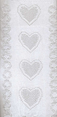 White Hearts Embroidered Tights