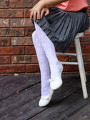 Embroidered Tights White Stars