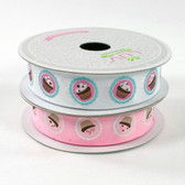 Pink Frosted Cupcake Grosgrain Ribbon