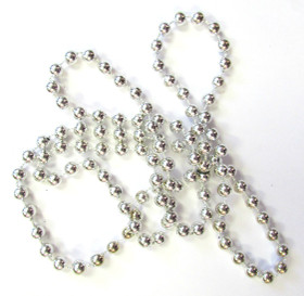 12 Silver Mardi Gras Bead Necklaces
