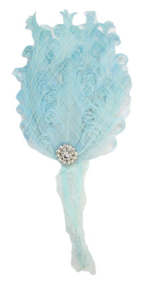Aqua Feather Headband