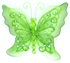 Green Large Butterfly Clip