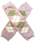 Wholesale Mauve Argyle Leg Warmers
