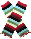 Wholesale Multi Colored Stripes Leg Warmers
