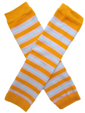 Wholesale Orange Striped Leg Warmers