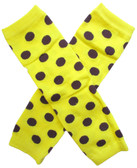 Wholesale Yellow Brown Dot Leg Warmers