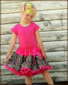 Pettiskirt Brown Hot Pink Multi Dot