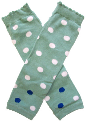 Wholesale Sage White Dot Leg Warmers