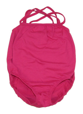 Hot Pink Leotards with Straps