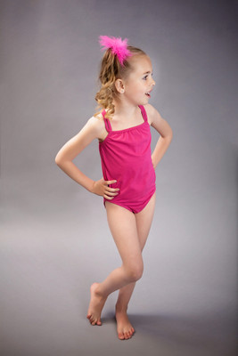 Girls Dancewear Cheap Wholesale Hot Pink Strappy