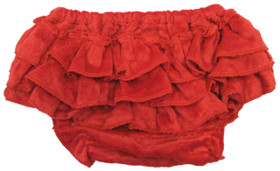 Red Minky Diaper Cover