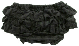 Black Minky Diaper Cover
