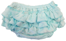 Frozen Aqua Minky Diaper Cover