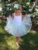 Frozen Aqua Older Girls and Adult Ribbon Lined Tutu