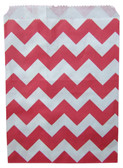12 Red Chevron Treat Bags