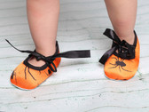 Orange Spider Holiday Crib Shoes