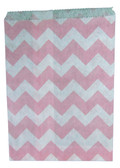 Light Pink Chevron Treat Bags