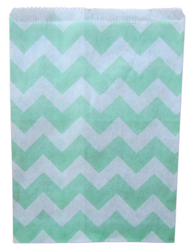 Mint Green Chevron Treat Bags